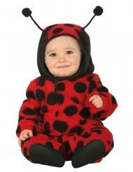 Käferkostüm für Kleinkinder Marienkäfer Tier-Verkleidung schwarz-rot
