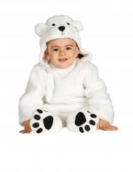Süßes Eisbär-Babykostüm für Karneval Tier-Kostüm weiss