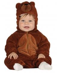 Niedliches Bärenkostüm für Babys Tier-Verkleidung braun
