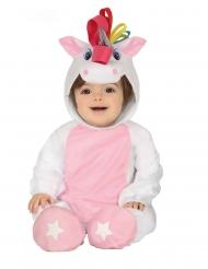 Einhorn Baby-Kostüm Unicorn-Overall rosa-weiss