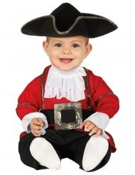 Kleiner Seeräuber-Babykostüm Pirat Fasching schwarz-rot-weiss