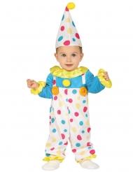 Baby-Clownkostüm mit Punkte Zirkus bunt