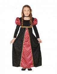 Mittelalterliches Mädchenkostüm Burgfräulein schwarz-rot