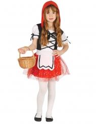 Rotkäppchen-Mädchenkostüm Märchen schwarz-rot-weiss