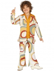Disco-Kinderkostüm Retro-Verkeidung für Jungen bunt