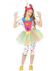 Bezauberndes Clown-Kostüm für Mädchen Zirkus-Star bunt