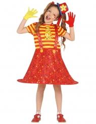 Entzückendes Clown-Kostüm für Mädchen Zirkus bunt