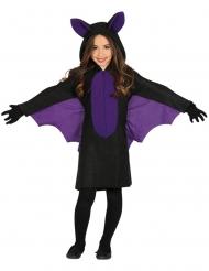 Fledermaus-Kleid für Mädchen Halloween-Kostüm schwarz-lila