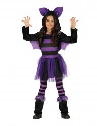 Süßes Fledermaus-Kostüm für Mädchen schwarz-lila