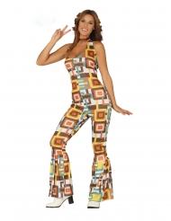 Party Disco-Kostüm für Damen 70er-Jahre bunt