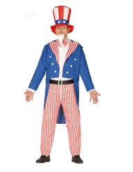 Uncle Sam-Herrenkostüm USA rot-blau-weiss