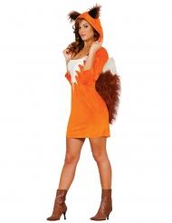 Sexy Fuchs-Damenkostüm Tier-Verkleidung braun-weiss