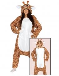 Witziges Giraffen-Kostüm für Erwachsene Tier-Verkleidung braun-beige