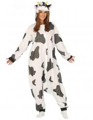 Kuh Kostüm für Erwachsene tierische-Verkleidung schwarz-weiss-gefleckt