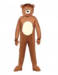 Teddybär-Maskottchen Kostüm für Erwachsene Bären-Verkleidung braun