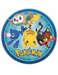 Pokemon™-Pappteller Tischzubehör 8 Stück bunt 23cm