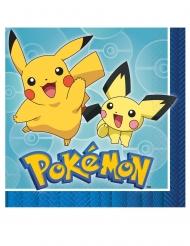 Pokemon Papierservietten Tischzubehör 16 Stück bunt 33x33cm