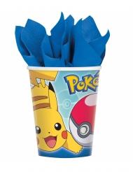 Pokémon™-Pappbecher Kindergeburtstag Pikachu bunt 8 Stück 266ml