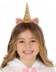 Einhorn-Haarreif Mädchen-Krone Kostüm-Zubehör rosa-gold