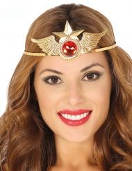 Superhelden Diadem-Kopfschmuck für Damen gold-rot