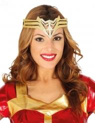 Superhelden-Kopfschmuck für Damen Kriegerprinzessin gold