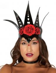 Dunkle Königin Krone Kostüm-Accessoire Märchen schwarz-rot
