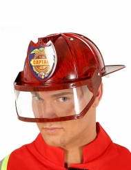 Feuerwehr-Helm Kostümzubehör für Uniformen Erwachsene rot