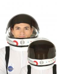 Helm für Astronauten Zubehör für Erwachsene weiss-schwarz