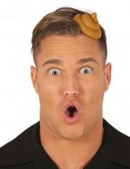 Witziger Kothaufen-Haarreif für Erwachsene braun