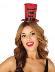 Zirkusdirektorin Miniatur-Zylinder Accessoire für Damen rot-schwarz