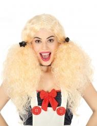 Puppen Perücke für Damen mit Zöpfe blond