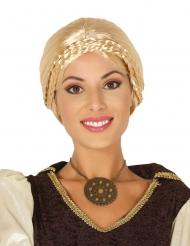 Wikinger Damen-Perücke mit Zopf blond