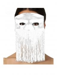 Augenmaske mit Fransen für Erwachsene weiss