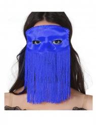 Fransen-Augenmaske für Erwachsene blau