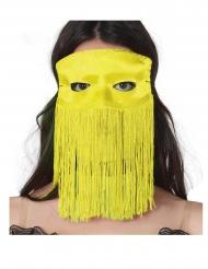 Fransen-Augenmaske für Erwachsene gelb