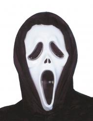 Schreiende Psychopathen Mördermaske schwarz-weiß Halloween