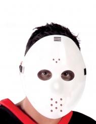 Hockey-Maske Kostüm-Accessoire für Halloween weiss