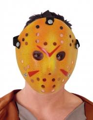Hockey-Maske für Erwachsene Halloween-Zubehör weiss-rot