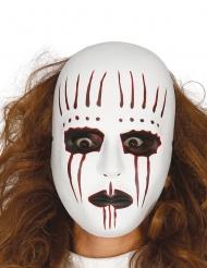 Horror-Halbmaske Halloween-Zubehör weiss-rot-schwarz