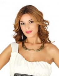 Antike Lorbeerblätter-Halskette für Damen Göttin gold