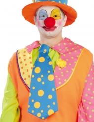 Übergroße Clowns-Krawatte für Erwachsene blau-gelb