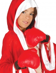 Boxhandschuhe Kostüm-Accessoire für Kinder rot-schwarz