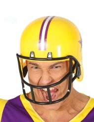 Football-Helm Kostüm-Zubehör für Erwachsene gelb