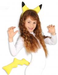 Elektro-Wesen Kostüm-Set 2-teilig für Kinder gelb-schwarz
