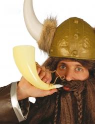 Trinkhorn Zubehör für Wikinger Accessoire elfenbeinfarben 24 cm