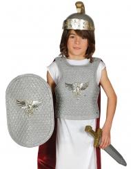 Römischer-Soldat Kostüm-Set 4-teilig für Kinder silber-gold