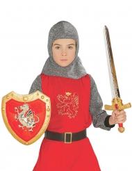 Ritterset mit Schwert und Schild für Kinder rot