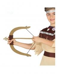 Indianer Pfeil und Bogen für Kinder braun
