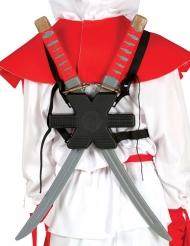 Ninjaschwerter Ninja-Accessoire 55cm grau-rot