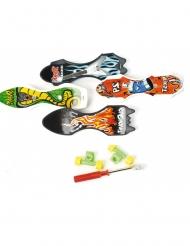 Mini-Skateboard 9cm bunt